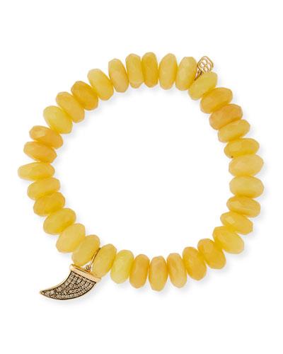 14k Medium Diamond Horn & Opal Bracelet