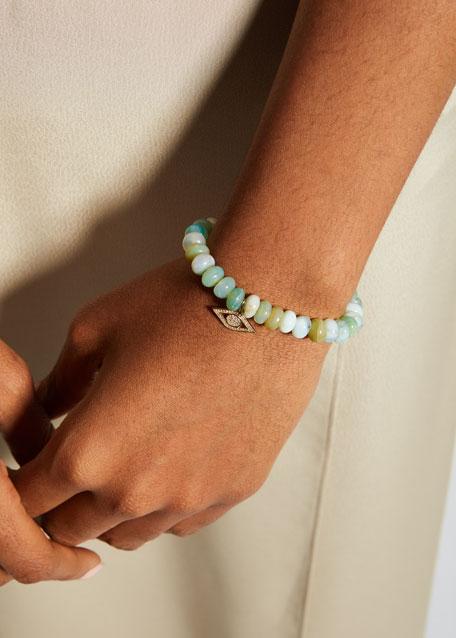 Anniversary Diamond Evil Eye & Opal Bracelet