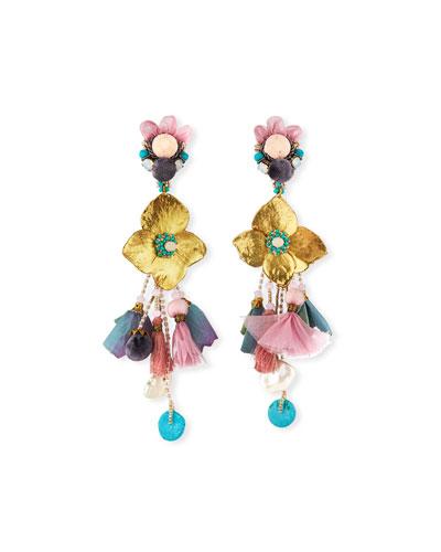 Mermaid Clip-On Dangle Earrings
