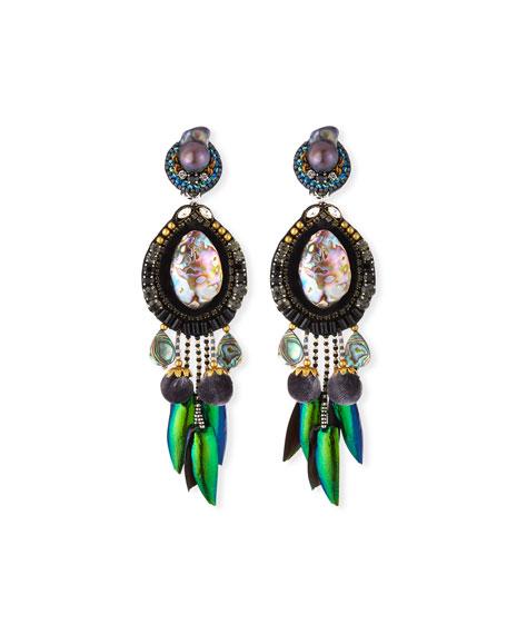 Ranjana Khan Accessories STELLA CLIP-ON DROP EARRINGS