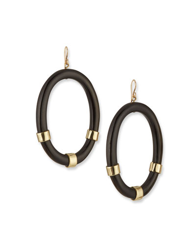 Somo Oval Drop Earrings in Dark Horn