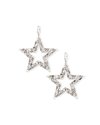 Smoking Crystal Star Earrings