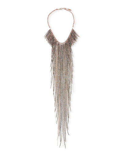 Monili Long Fringe Necklace