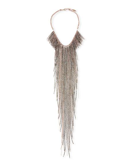 Monili Long Fringe Necklace