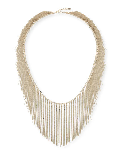 Silver Fringe Necklace