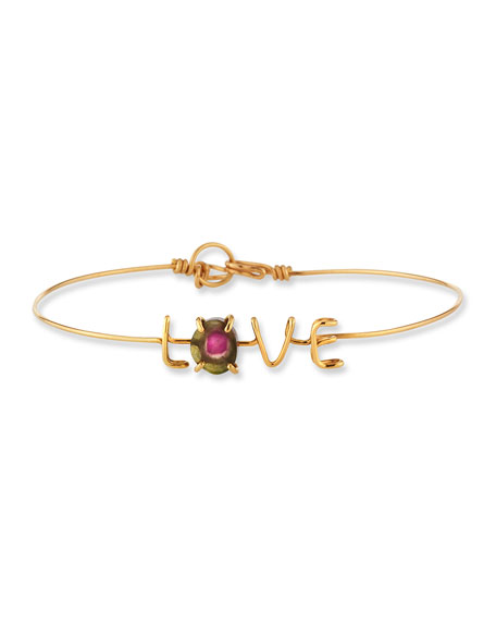 Atelier Paulin Accessories LOVE & TOURMALINE WIRE BRACELET