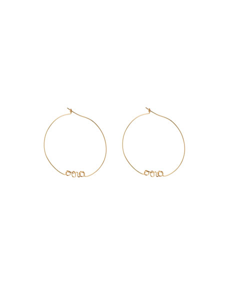 Personalized Gold-Filled Hoop Earrings, 1-5 Letters