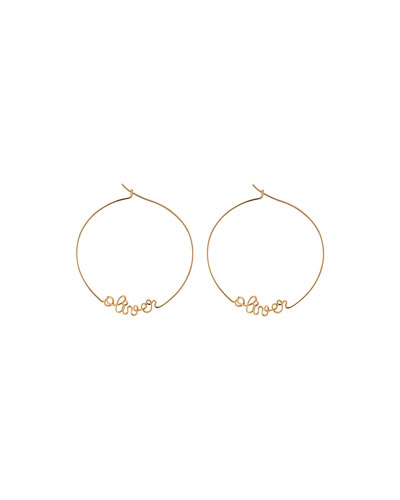 Personalized Gold-Filled Hoop Earrings  6-10 Letters