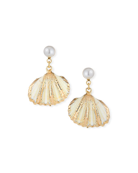 Auden Accessories LALA SHELL-DROP EARRINGS