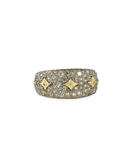 Old World Diamond Pave Ring w/ Crivelli, Size 6.5