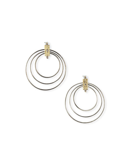 Old World Diamond Multi-Circle Earrings