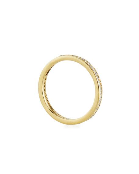 Sueno 18k Gold Stack Band w/ Diamonds, Size 6.5