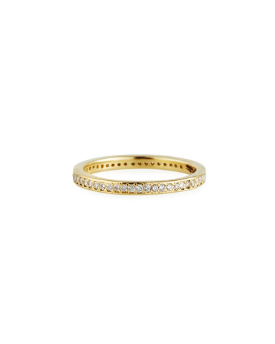 Sueno 18k Gold Stack Band w/ Diamonds  Size 6.5