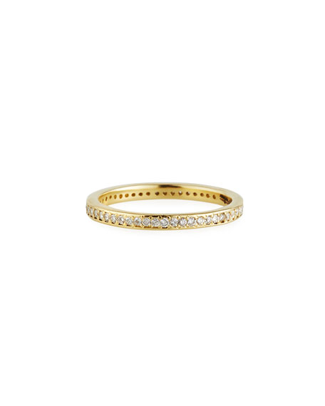 Armenta Accessories SUENO 18K GOLD STACK BAND W/ DIAMONDS