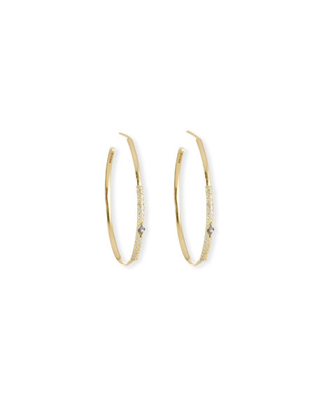 Armenta Old World Diamond Hoop Earrings w/ 18k