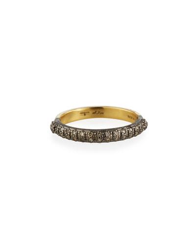 Old World Halfway Diamond Stack Ring  Size 6.5