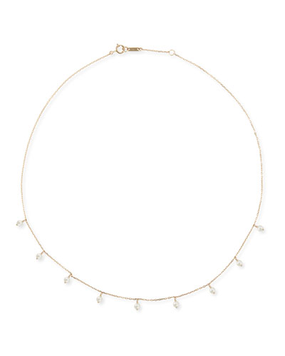 14k Gold Short Pearl Shaker Necklace