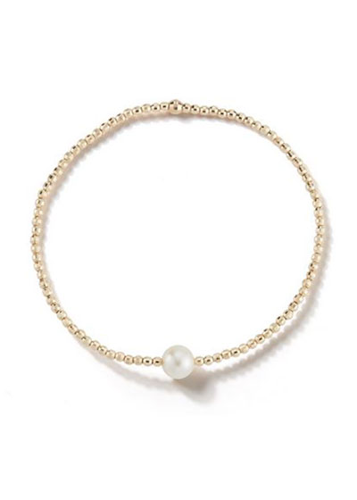 14k Gold Single-Pearl Bracelet