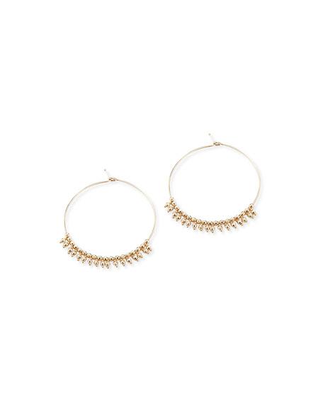 14k Gold Hoop Dangle Earrings