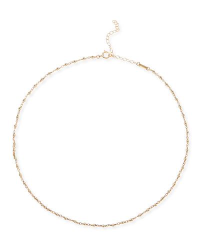 14k Gold Wrapped Bead Choker Necklace