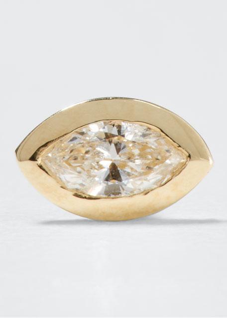 Sydney Evan 14k Diamond Marquise Single Stud Earring