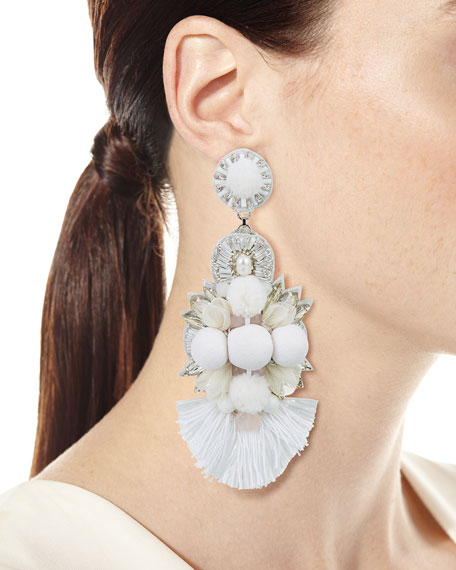 Sabine Long Clip-On Earrings