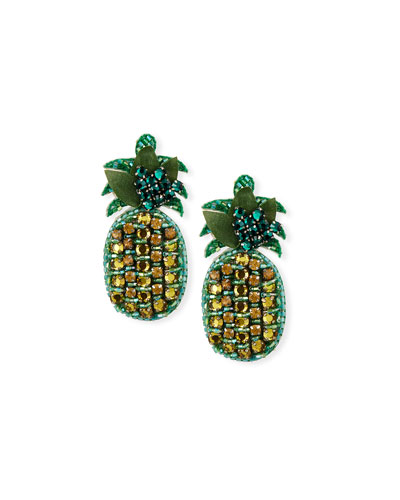 Lananas Pineapple Clip-On Earrings