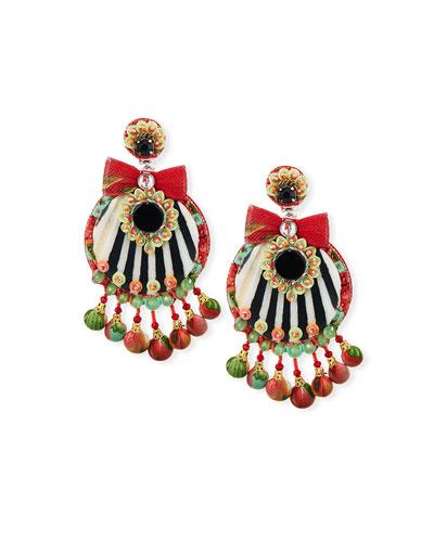 Moselle Resin Clip-On Earrings