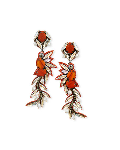 Isla Crystal Clip-On Earrings