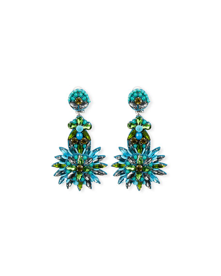 Tallaulah Bead & Crystal Drop Earrings