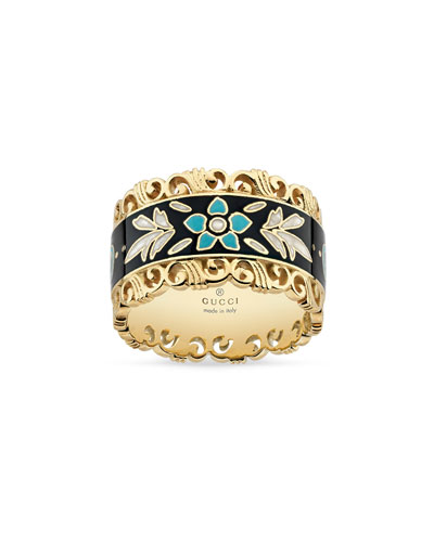 Icon Blooms Band Ring in 18K Gold  Size 6.75