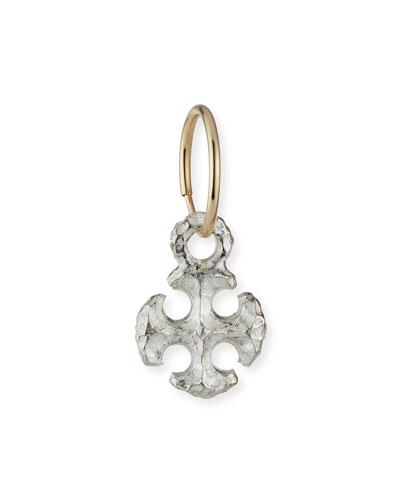 Medium Lotus Cross Earring, Single