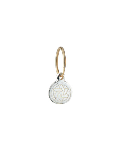 Small Star of David Coin Drop Earring, Single