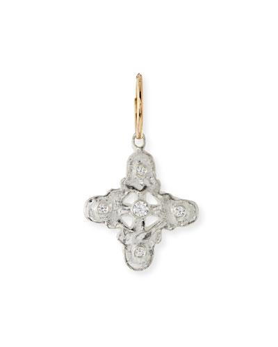 Five Stone Medium Signature Cross Single Earring