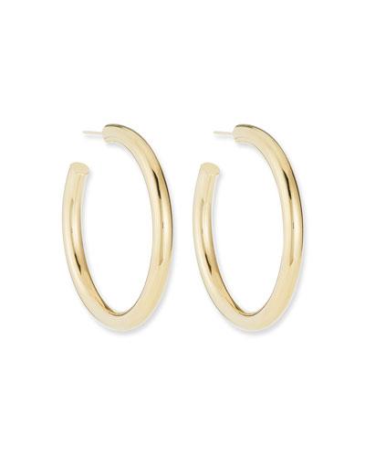 Lou Medium Thick Hoop Earrings  2