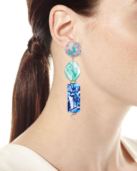 Linear Stacked Drop Earrings