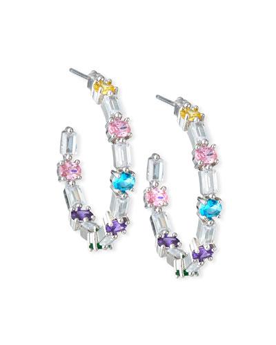 7979ddd7f Ferris Wheel Hoop Earrings Pastel Multicolor