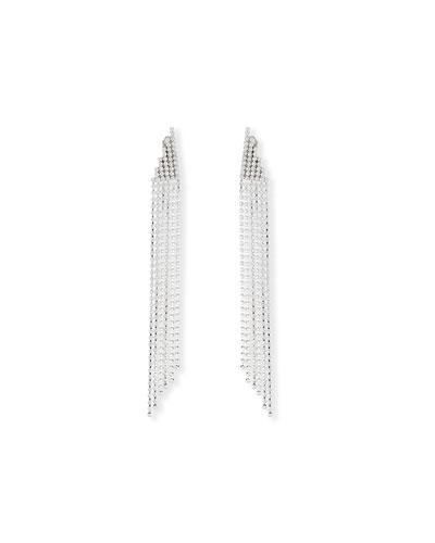 Crystal Cascade Clip Earrings