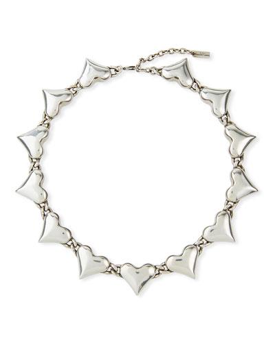 Multi-Heart Collar Necklace