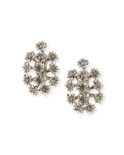 Mini Flower Clip-On Earrings