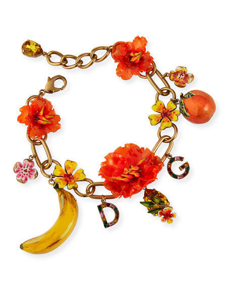 Floral and Fruit Mix Bracelet