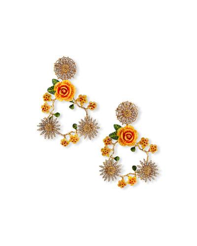 Open Floral Mix Earrings
