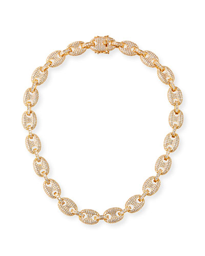 Toscano Pave-Link Necklace