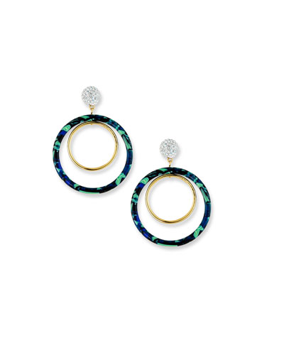 Double Hoop-Drop Earrings