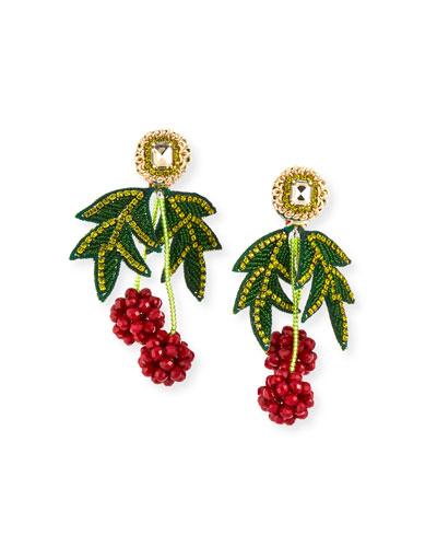 Raspberry Clip-On Earrings
