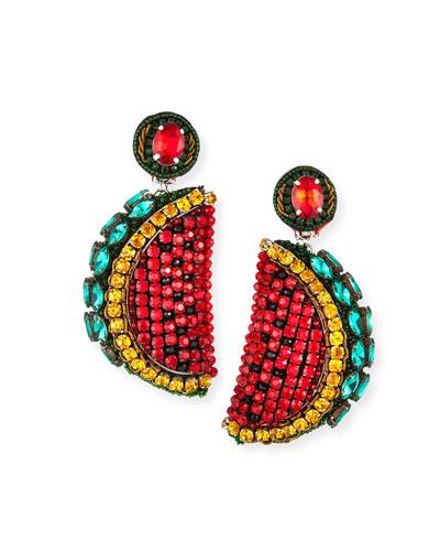 Watermelon Clip-On Earrings