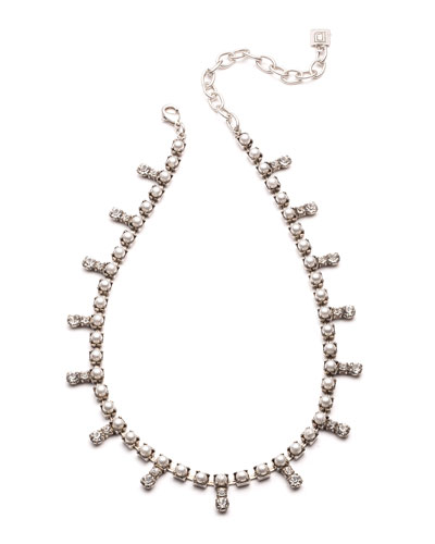 Lovett Crystal & Pearly Necklace