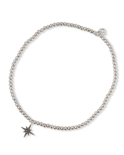 14k White Gold Diamond Starburst Bracelet
