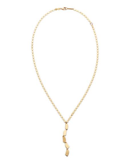 14k Gold 5-Shape Lariat Necklace