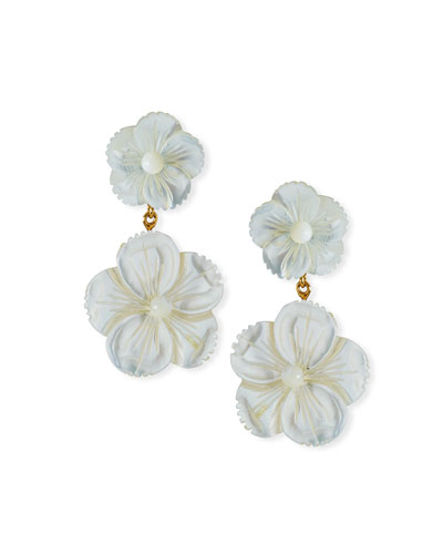 Tessa Flower-Dangle Earrings